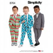 8764 Simplicity Pattern: Boys' Suit and Tie